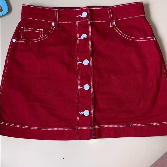 really cheap 100% satisfaction new style Red jean skirt